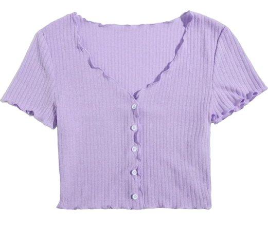 Cute Ditsy Purple Top
