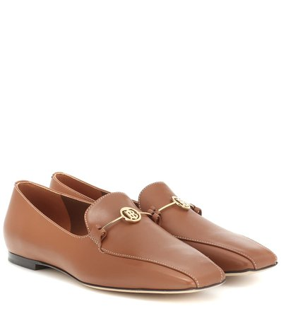 Monogram Leather Loafers - Burberry | Mytheresa