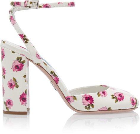 Floral Block Heel Pumps