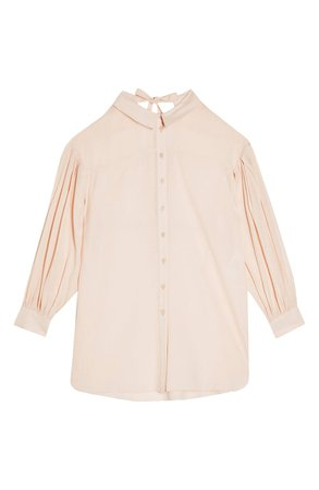 Topshop Tie Back Oversize Shirt   Nordstrom