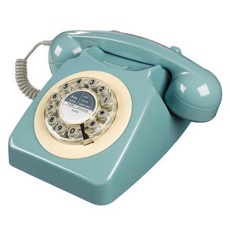 vintage phone blue