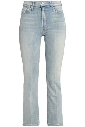 Cropped faded high-rise bootcut jeans | MOTHER | Sale up to 70% off | THE OUTNET