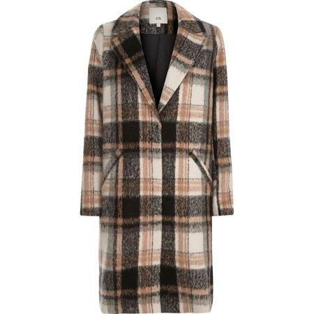 Beige check coat - Coats & Jackets - Sale - women