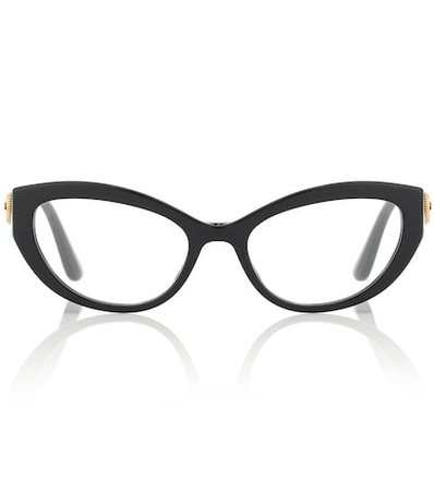 Cat-eye acetate glasses