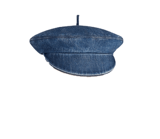 DIOR PARIS ARTY BERET CAP Blue Cotton Denim