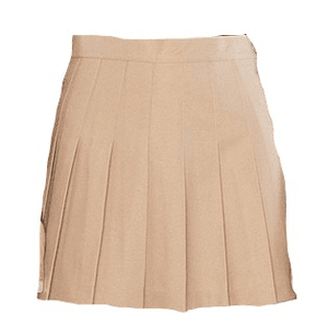 khaki skirt png cream color