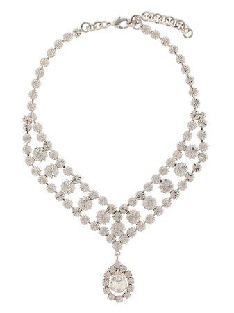 Alessandra Rich crystal-drop chain choker