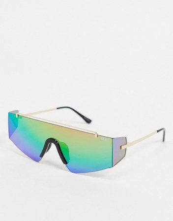 Quay x Lizzo Transcend womens visor sunglasses in multi | ASOS
