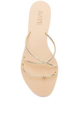 RAYE Myla Sandal in Gold | REVOLVE
