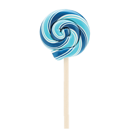 blue lollypop