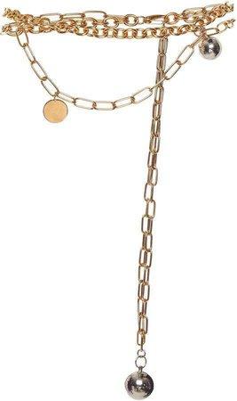 Marni Embellished Chain-Linked Belt