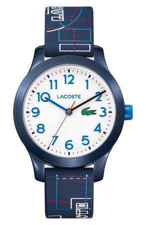 Lacoste 12.12 Rubber Strap Watch, 32mm (Kids)   Nordstrom