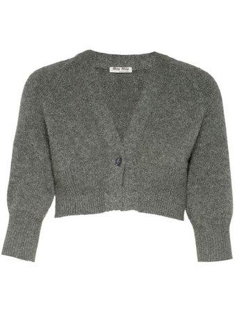 Miu Miu Cropped wool cardigan