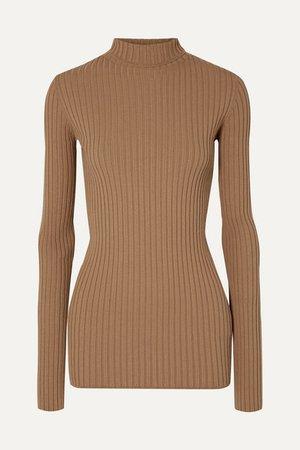 MM6 Maison Margiela   Ribbed-knit turtleneck sweater   NET-A-PORTER.COM