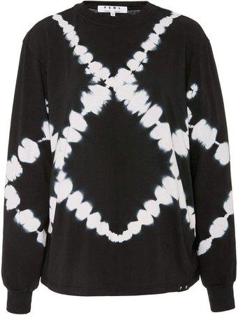 White Label Tie-Dye Cotton-Terry Sweatshirt Size: XS