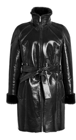 Saks Potts Fusun Belted Coated Shearling Coat