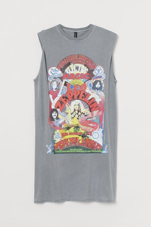 Printed Dress - Gray