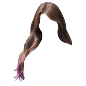 brown hair png purple tips