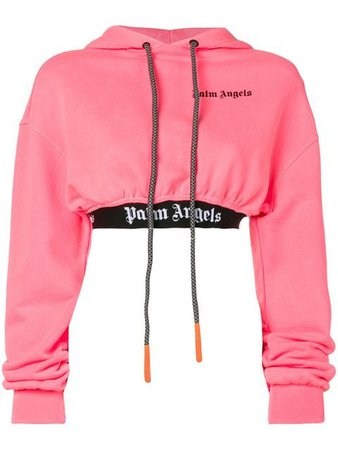 Palm Angels logo cropped hoodie $421 - Buy Online SS19 - Quick Shipping, Price