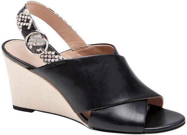Crossover Wedge Sandal