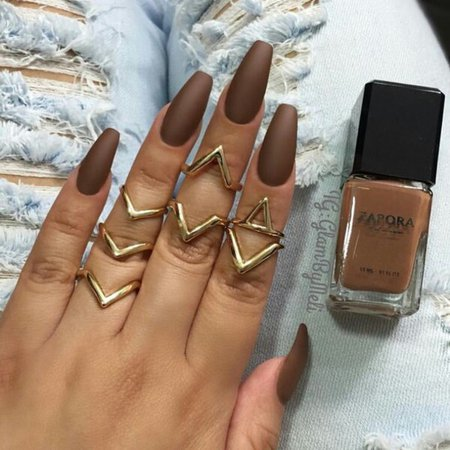 brown nails - Google Search