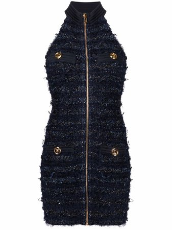 Balmain tweed sleeveless dress - FARFETCH