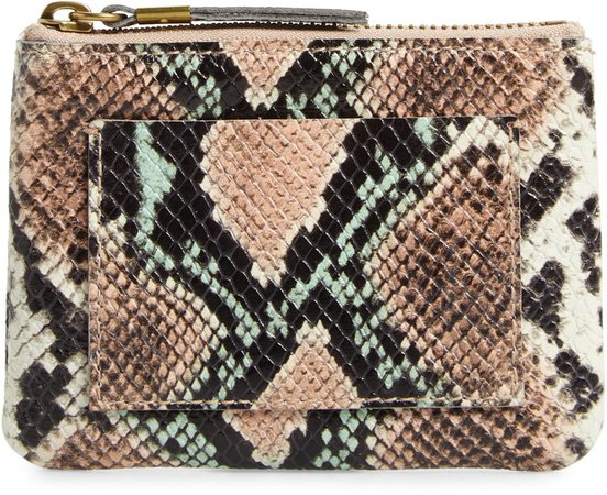 The Leather Pouch Snake Embossed Edition Clutch