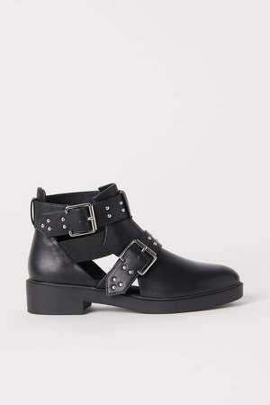 Open-sided Boots - Black
