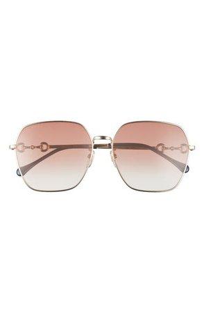 Gucci 60mm Gradient Square Sunglasses | Nordstrom