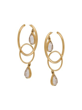 Goossens Ondine Cabochons Circle Earrings   Farfetch.com