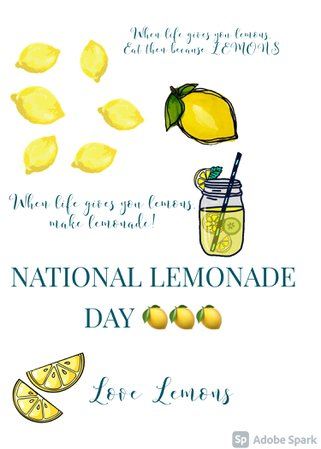 created by @looksbylyla| NATIONAL LEMONADE DAY