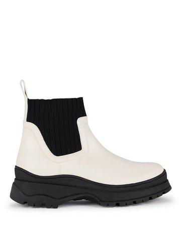 STAUD Bow Lug Sole Sock Ankle Boots   INTERMIX®
