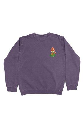 Parks Project Mushroom Patch Crop Sweatshirt | Nordstrom