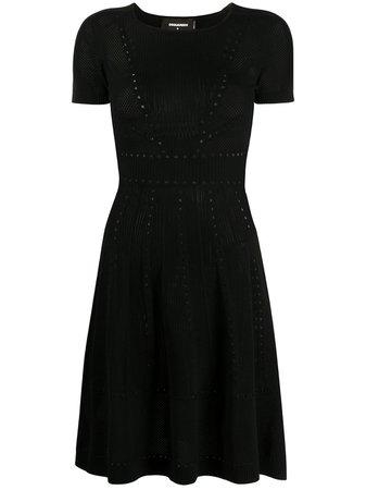 Dsquared2 Pointelle Knit Short Dress - Farfetch