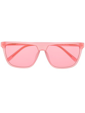 Dkny Transparent Square Frame Sunglasses