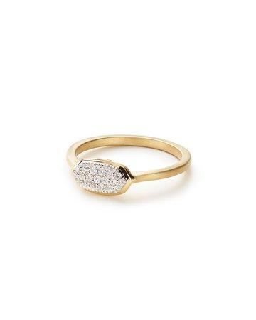 Kendra Scott Isa 14k Diamond Pave Ring, Size 6-8 | Neiman Marcus