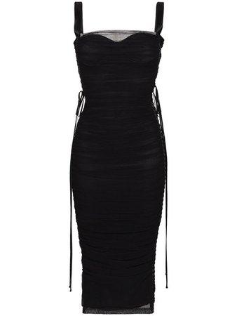 Dolce & Gabbana Corset Tie Up Dress - Farfetch