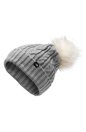 The North Face Oh-Mega Faux Fur Pom Beanie | Nordstrom