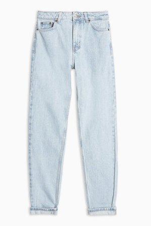 Sulphur Bleach Wash Mom Jeans | Topshop blue