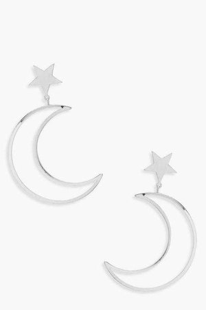 Moon And Star Earrings | Boohoo