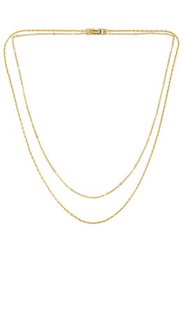 Jenny Bird Double Layer Necklace in Gold | REVOLVE