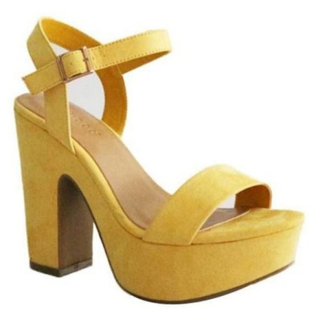 yellow platform heels - that 70's show oc