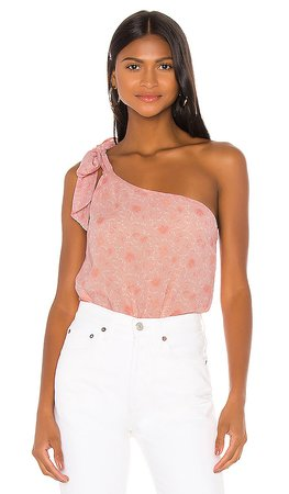 Privacy Please Monet Bodysuit in Pink Gabriela Floral | REVOLVE