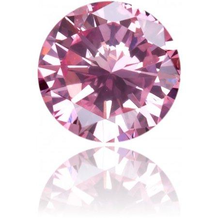 Natural Pink Diamond Round 0.10 ct Polished