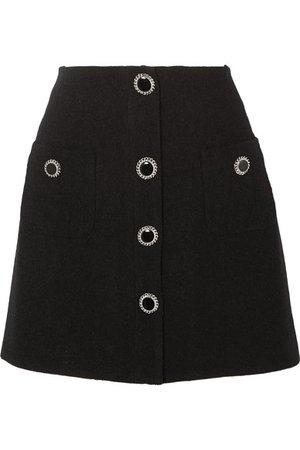 Alessandra Rich | Button-embellished wool-blend tweed mini skirt | NET-A-PORTER.COM