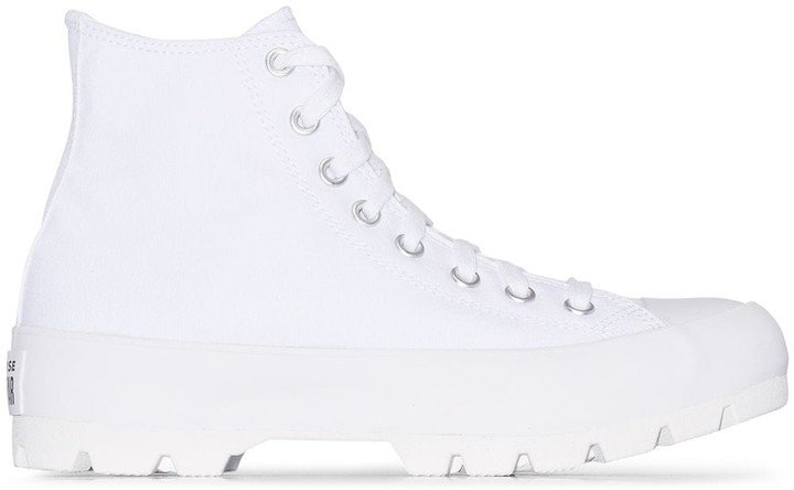 White Chuck Taylor All Star lugged high top sneakers