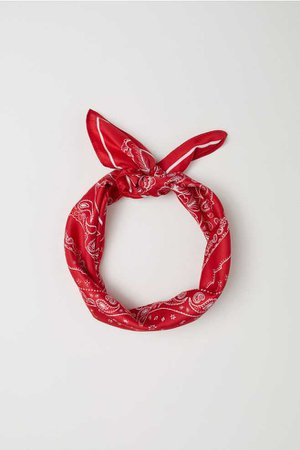 Scarf/Hairband - Red/paisley-patterned - Ladies   H&M US