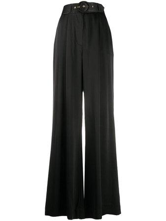 Black Zimmermann belted waist trousers - Farfetch