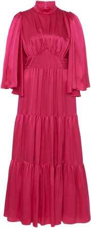 Andrew Gn Silk Tiered Midi Dress