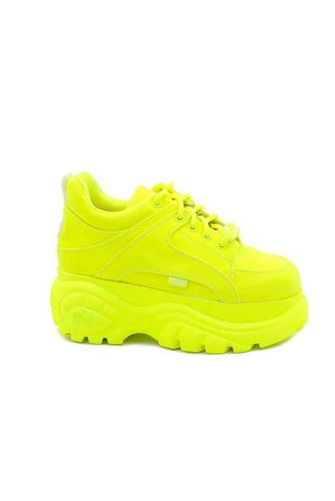 Buffalo London Neon Yellow Platform Trainers   Brands   Jaded London